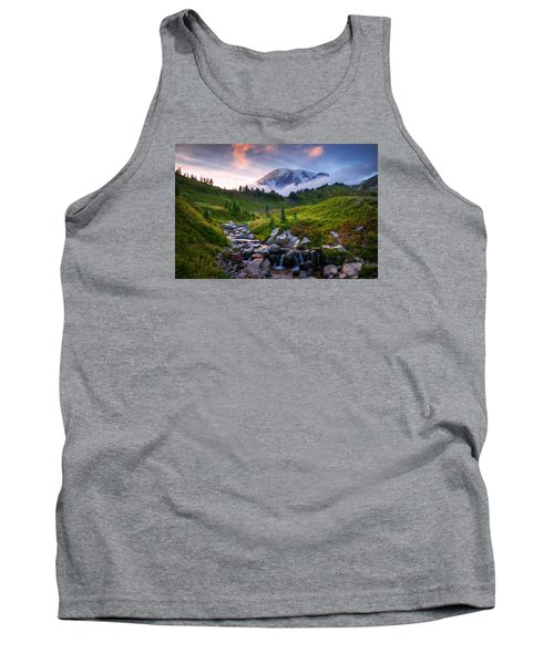 Tank Top featuring the photograph Edith Creek Sunset by Dan Mihai
