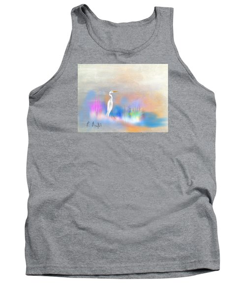 Egret Grace Abstract Tank Top