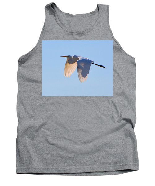 Egret In Silhouette Tank Top