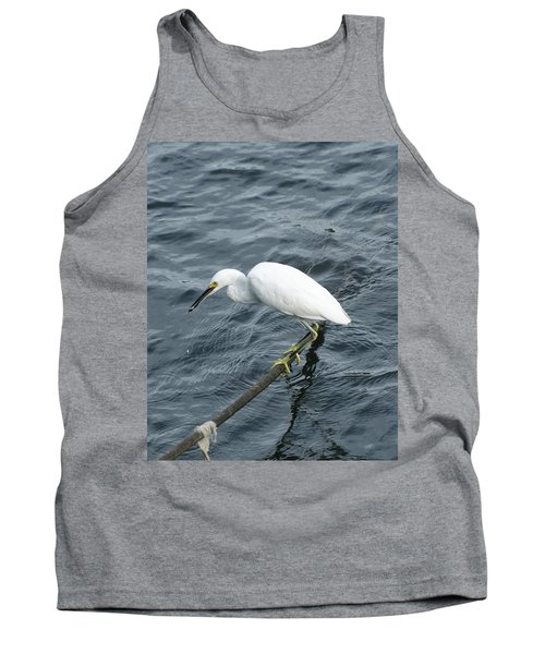 Egret On The Munch Tank Top by Margie Avellino