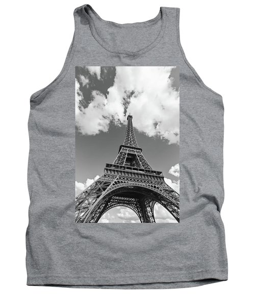 Eiffel Tower - Black And White Tank Top