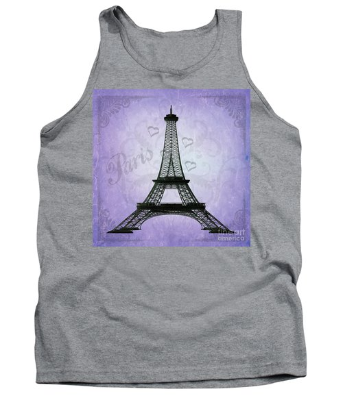 Eiffel Tower Collage Purple Tank Top