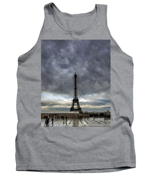 Tank Top featuring the photograph Eiffel Tower Paris by Sally Ross