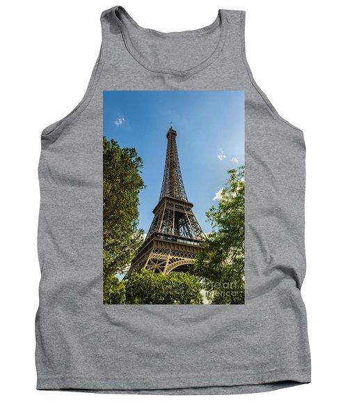 Eiffel Tower Through Trees Tank Top