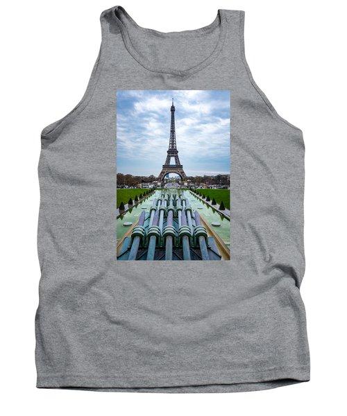 Eiffeltower From Trocadero Garden Tank Top by Rainer Kersten