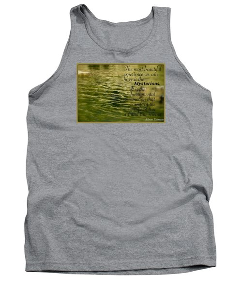 Tank Top featuring the photograph Einstein Mysterious by David Norman