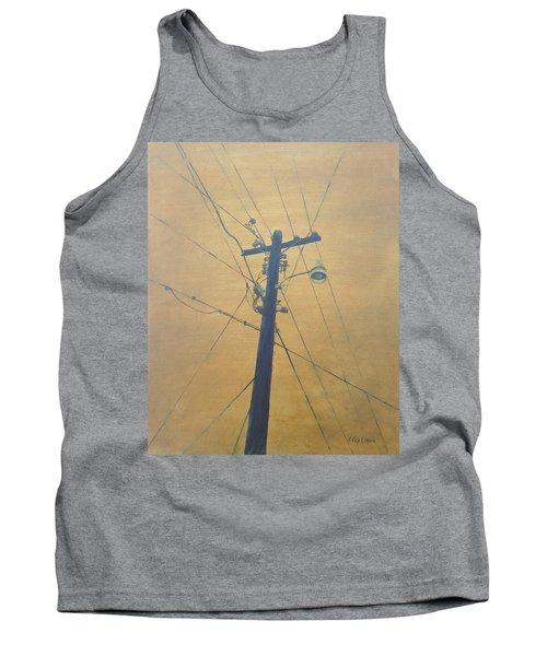Electrified Tank Top by T Fry-Green