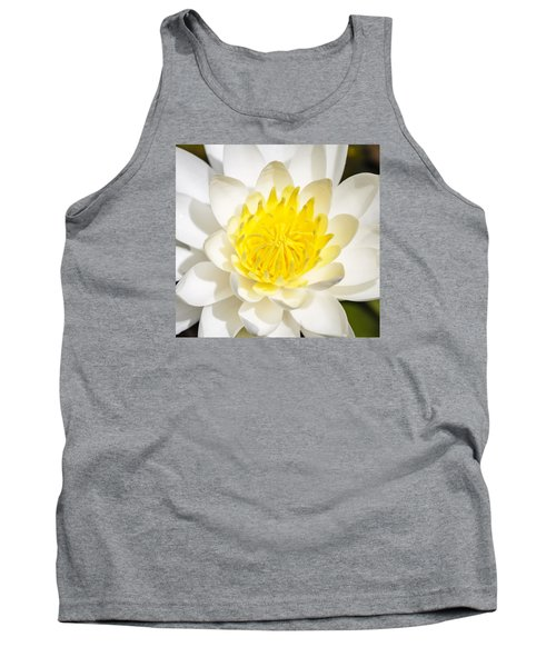 Elegant Lotus Tank Top by Christopher L Thomley