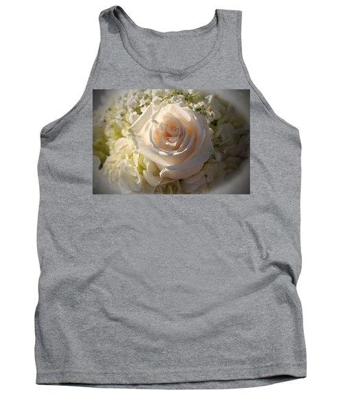 Elegant White Roses Tank Top