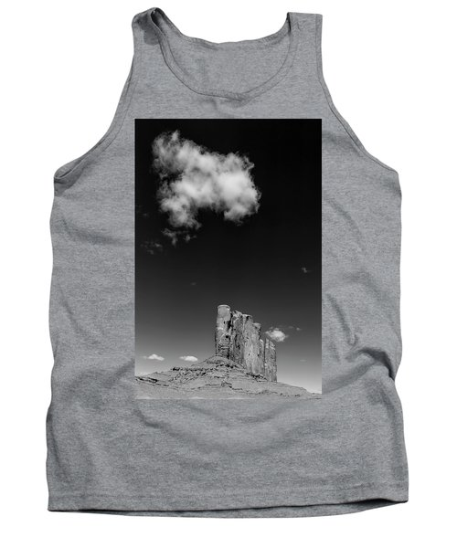 Elephant Butte In Black And White Tank Top by David Cote