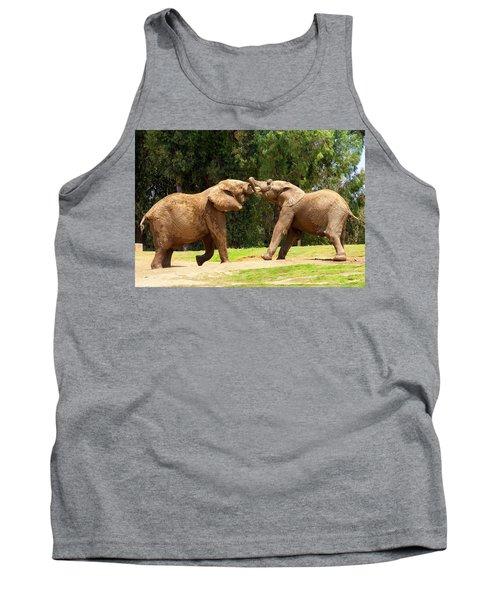 Elephants At Play 2 Tank Top