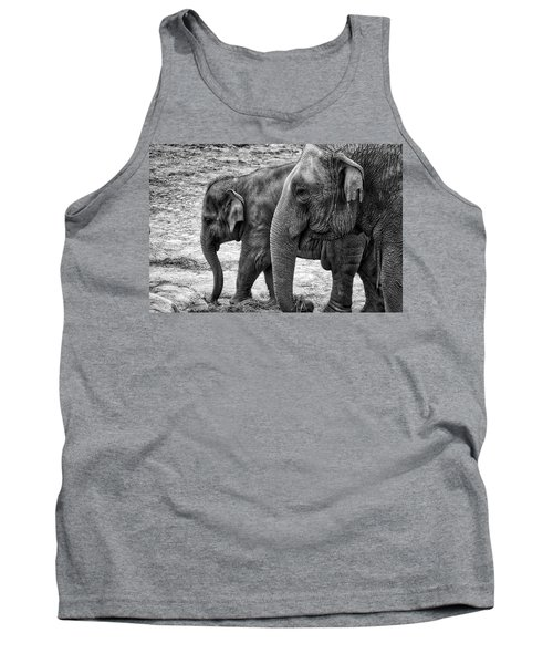Elephants Bw Tank Top