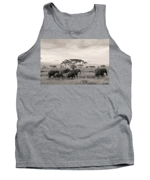 Tank Top featuring the photograph Elephants by Stefano Buonamici