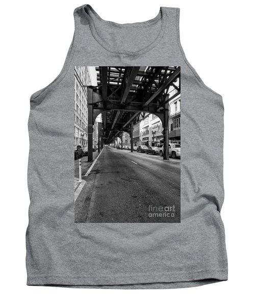 Elevated Train Track The Loop In Chicago, Il Tank Top