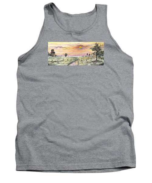 Tank Top featuring the digital art Elevator In The Sunset by Darren Cannell