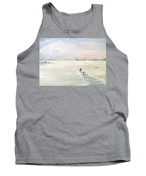Tank Top featuring the painting Elf Stedentocht- Eleven Cities Tour by Annemeet Hasidi- van der Leij
