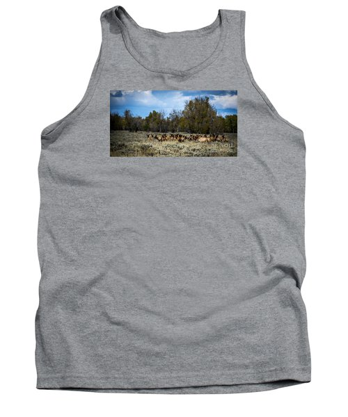 Tank Top featuring the photograph Elk Family by Sandy Molinaro