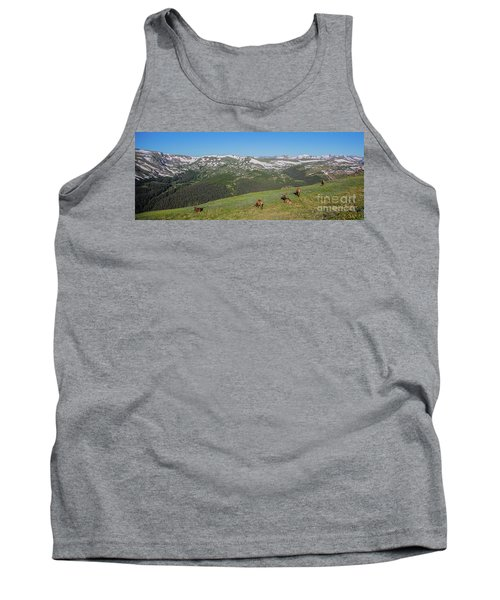 Elk Grazing In Rmnp Tank Top by John Roberts