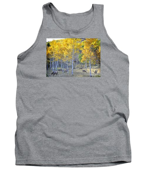 Tank Top featuring the photograph Elk In Rmnp Colorado by Nava Thompson