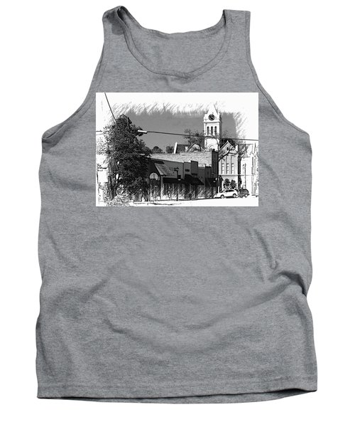 Tank Top featuring the photograph Ellaville, Ga - 3 by Jerry Battle