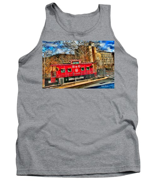 Ellicott City Train And Factory Tank Top