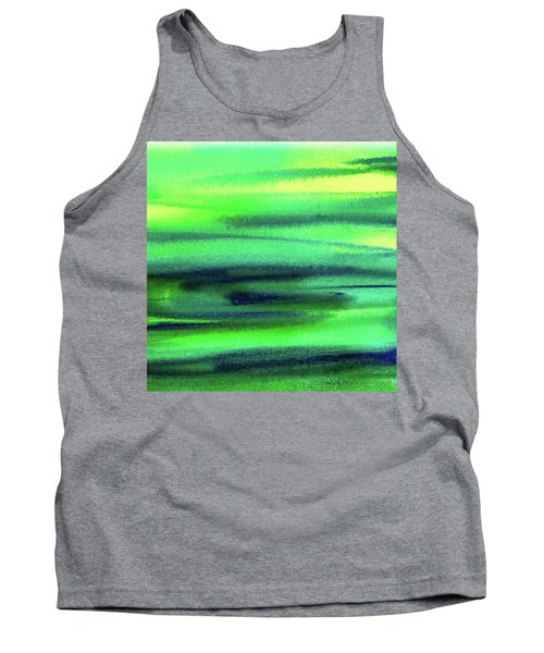 Emerald Flow Abstract Painting Tank Top