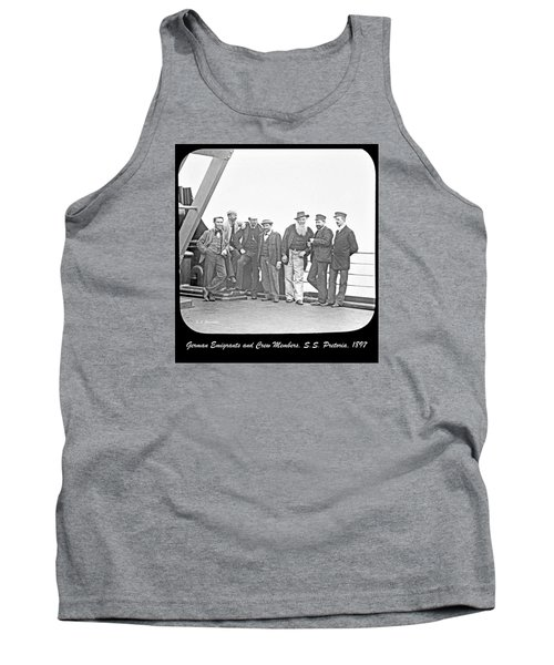 Tank Top featuring the photograph Emigrants Passangers And Crew Members On Deck Of Ss Pretori by A Gurmankin