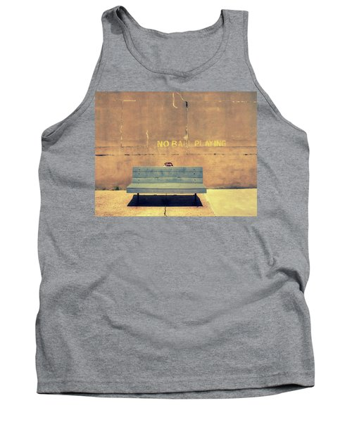 Empty Bench And Warning Tank Top