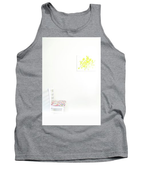 Empty Chair With Yellow Roses Tank Top