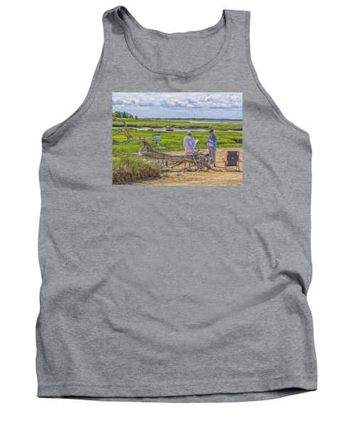 Tank Top featuring the photograph En Plein Air  Cape Cod by Constantine Gregory