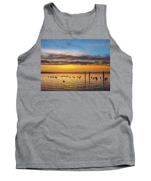 End Of The Day On Humboldt Bay Tank Top by Greg Nyquist