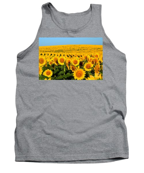 Endless Sunflowers Tank Top by Catherine Sherman