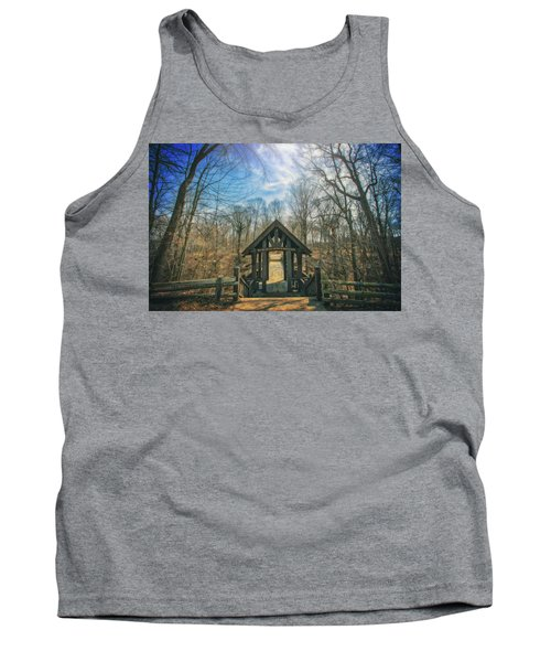 Tank Top featuring the photograph Entrance To Seven Bridges - Grant Park - South Milwaukee #3 by Jennifer Rondinelli Reilly - Fine Art Photography