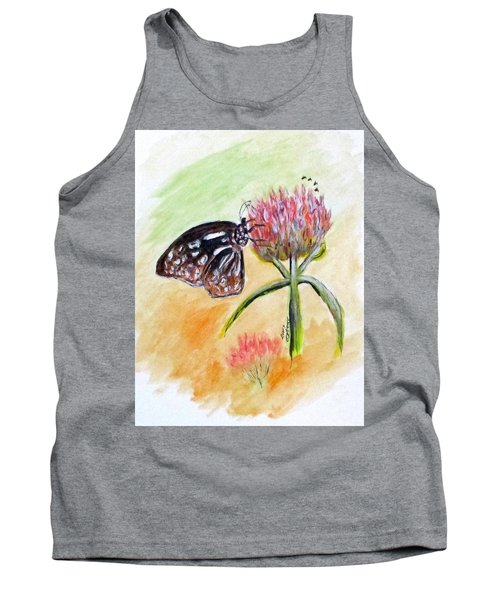 Erika's Butterfly Two Tank Top by Clyde J Kell