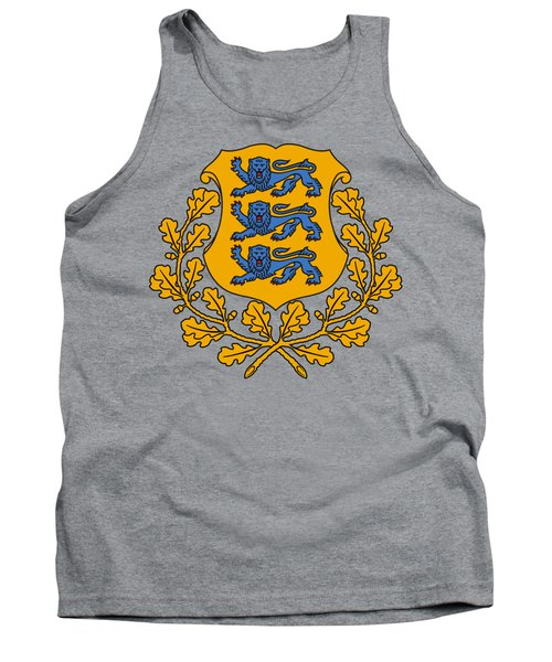 Estonia Coat Of Arms Tank Top by Movie Poster Prints
