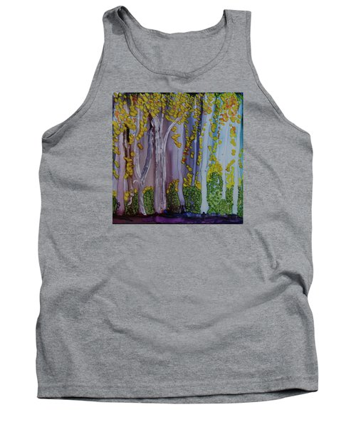 Tank Top featuring the painting Ethereal Forest by Suzanne Canner