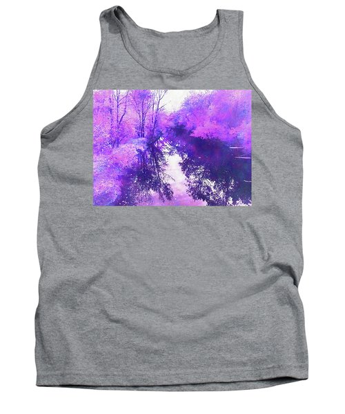 Ethereal Water Color Blossom Tank Top