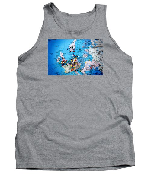 Europe And Russia Map Tank Top