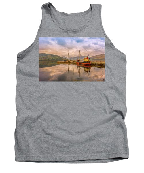 Tank Top featuring the photograph Evening At The Dock by Roy McPeak