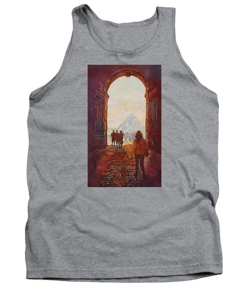 Evening At The Louvre Tank Top by Jenny Armitage