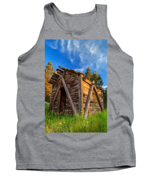 Evening Light On An Old Cabin Tank Top