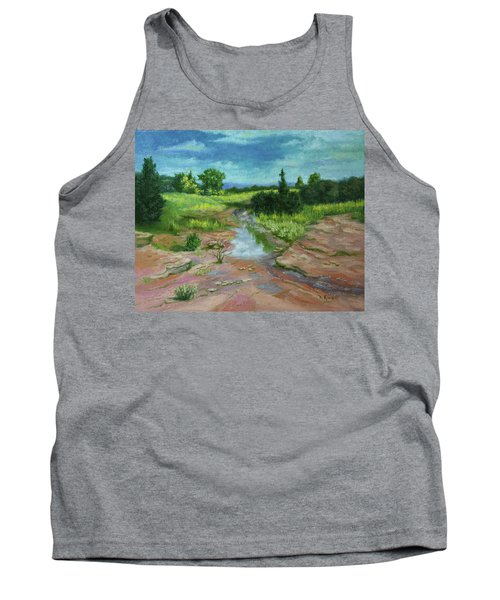 Tank Top featuring the painting Evening Light by Roena King