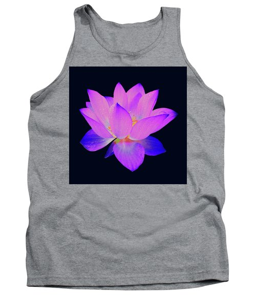 Evening Purple Lotus  Tank Top
