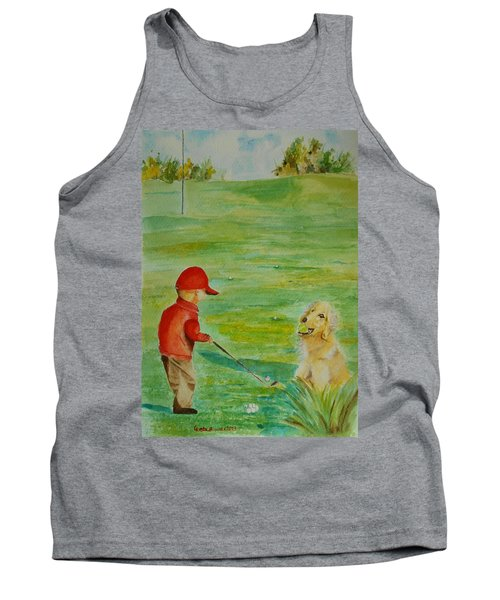 Everything Waits While I Golf Art Tank Top by Geeta Biswas