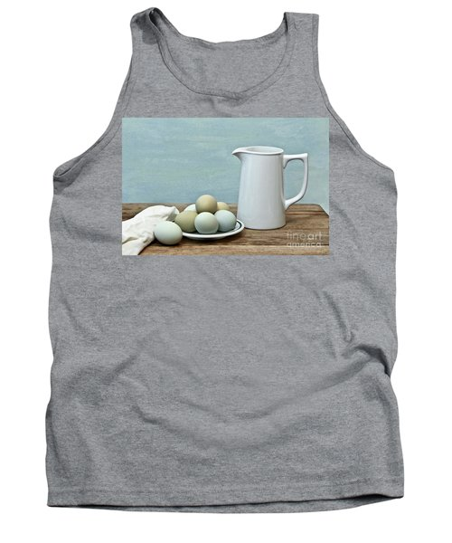 Exotic Colored Eggs With Pitcher Tank Top