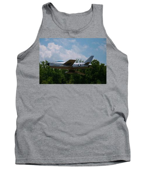 Tank Top featuring the digital art F-86l Sabre by Chris Flees
