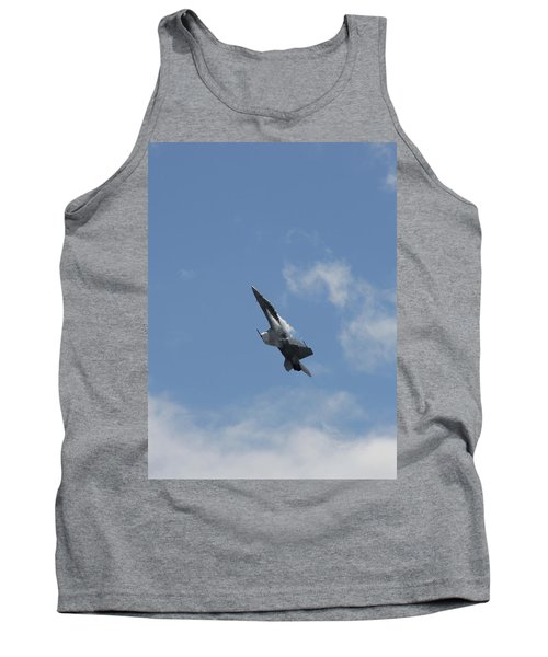 Tank Top featuring the photograph F/a-18 Fighter Fast Climb by Aaron Berg
