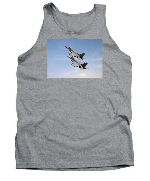 Tank Top featuring the photograph F16  Still The Wild Blue Beckons by Pat Speirs