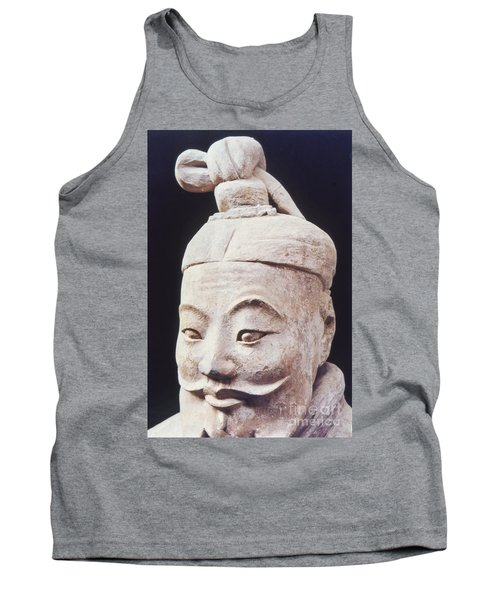 Tank Top featuring the photograph Face Of A Terracotta Warrior by Heiko Koehrer-Wagner