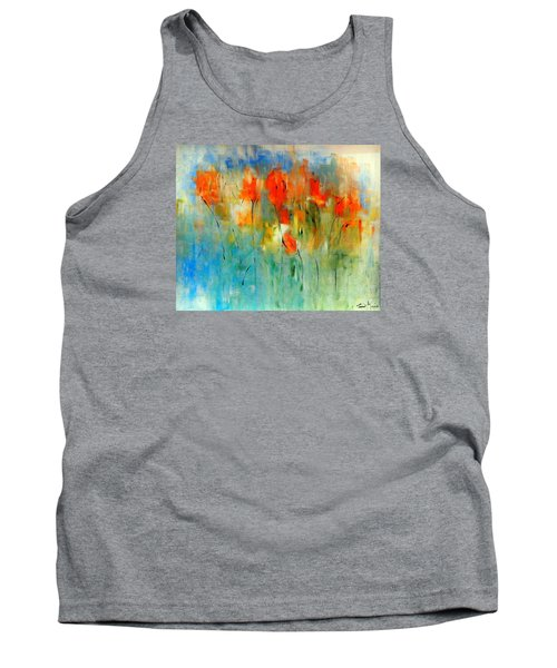 Faded Warm Autumn Wind Tank Top by Lisa Kaiser